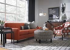 burnt orange living room set zion star