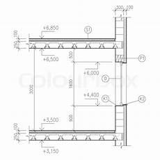 construction drawing window detail stock image colourbox