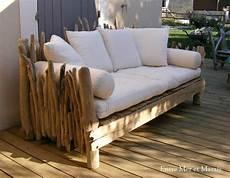 canape exterieur bois canap 233 en bois flott 233 1 2300 longueur 210 cm hauteur