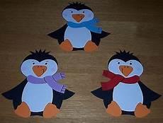 Bastelvorlage Pinguin Papier - 3 s 252 223 e pinguine fensterbild aus tonkarton blau gelb