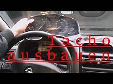 tacho ausbauen tachobeleuchtung wechseln opel astra g