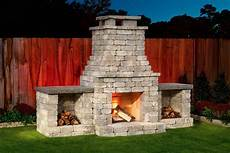 diy outdoor fireplace kit quot fremont quot makes hardscaping cheap and easy