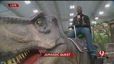 jurassic quest visits okc this weekend news 9