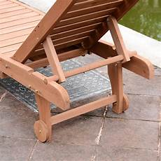 outsunny wooden outdoor chaise lounge patio pool chair w