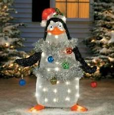 37 quot lighted pre lit tinsel madagascar penguin outdoor