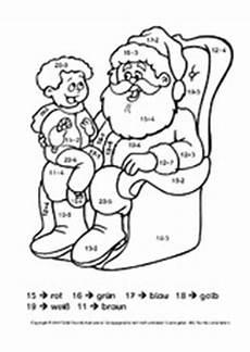 Ausmalbild Weihnachten Rechnen Malen Nach Zahlen Weihnachten Grundschule Blume Malen
