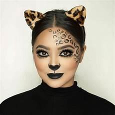 leoparden augen schminken pin auf fasching