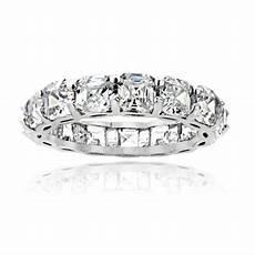 925 sterling silver 5 85ct asscher cut cz eternity wedding band ring ebay