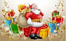 santa claus happy new year and merry christmas gifts for children desktop hd wallpaper for