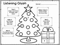 christmas listening glyphs these listening glyph worksheets help students listen to and analyze