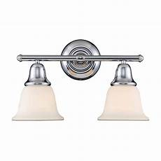 titan lighting berwick 2 light polished chrome wall bath bar light tn 10933 the home depot