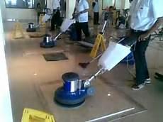 marble polishing using pads with floor polisher
