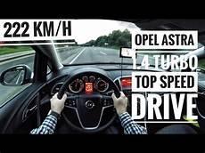 opel astra j 1 4 turbo 2015 on german autobahn
