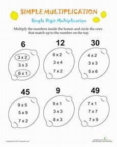 simple multiplication lemons multiplication special education math math worksheets