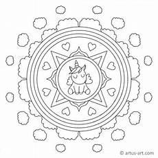 Einhorn Malvorlagen Kostenlos Xyz Mandalas Einhorn