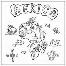 Malvorlagen Map Malvorlage Afrika Kontinent Coloring And Malvorlagan