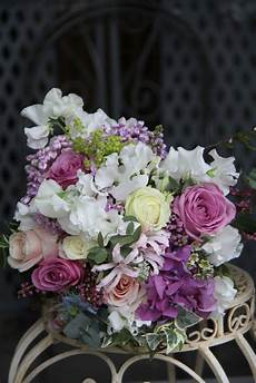 the flower magician victorian lilac wedding bouquet