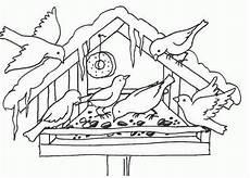 Malvorlagen Winter Kostenlos Und Spielen Vogelhaeuschen Im Winter Ausmalbild Malvorlage