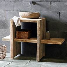 waschtisch gäste wc holz bauholz waschtisch style badun