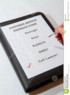 customer service feedback form fun one stock image image of document lawyer 28078377