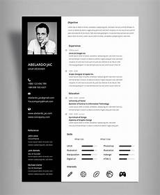 black white resume cv template with cover letter free psd file good resume