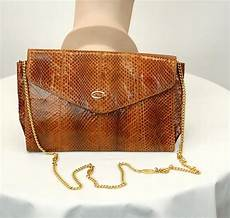 raffaels vintage 1980s snakeskin bag purse chain shoulder raffael