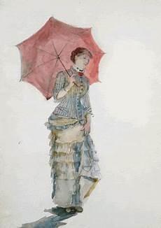 Le Frau Mit Schirm - figuration feminine bracquemond 1840 1916