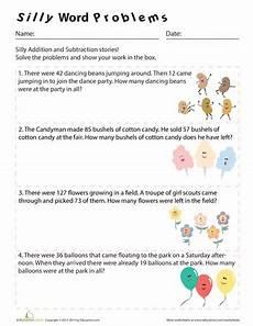 3rd grade math worksheet division word problems silly word problems math math word problems word