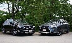 acura mdx vs lexus rx luxury crossover comparison autoguide com