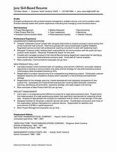 skill based resume exles professional skills sle