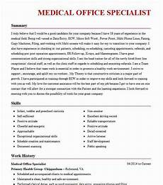 medical office specialist objectives resume objective