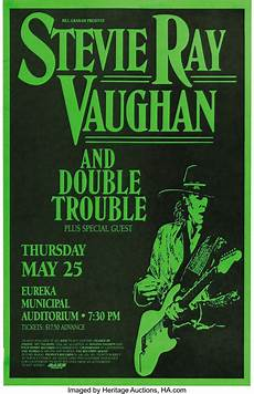 stevie vaughan concert stevie vaughan concert poster 1989 91 this lot lot 23543 heritage auctions