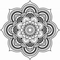 Mandala Blumen - flower mandala color pages mandala coloring pages