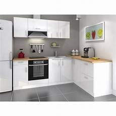 cuisine blanche laquée cosy cuisine compl 232 te 280cm laqu 233 blanc achat vente