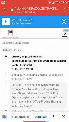 china post wo ist mein paket bearbeitungszentrum tracking