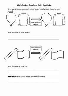 explaining static electricity teaching resources