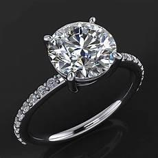 eliza ring 2 carat forever one moissanite