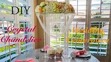 diy crystal chandelier wedding centerpiece youtube