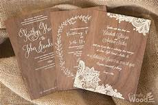 wood business cards wedding invitations cards of wood