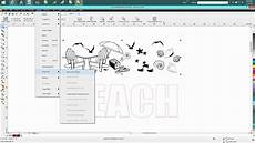 corel draw clipart corel draw tips tricks adding clip to your text