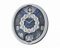 إشتري ساعة حائط سيكو برواز بلاستيك مزودة بمستشعر إضاءة qxm379s أون لاين العربى جروب
