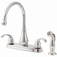 pfister faucets kitchen pfister avalon 2 handle standard kitchen faucet in polished chrome gt364dcc the home depot