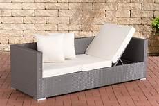 gartensofa polyrattan polyrattan lounge sofa solano sonnenliege gartensofa liege