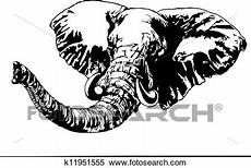 clipart of graphic elephant k11951555 search clip