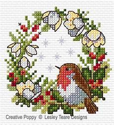 Lesley Teare Designs Robin Cross Stitch Pattern