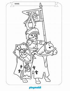 playmobil knights coloring sheet 02 time