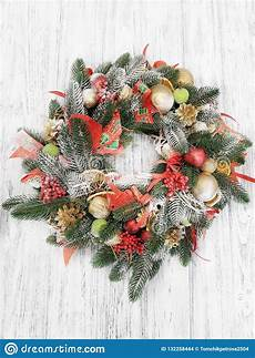 merry christmas made christmas wreath vintage background image of hobby