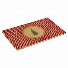 fussmatte kokos miavilla kokos fu 223 matte stripe rot goldfarben 40 x 60 cm