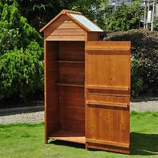 new wooden garden shed apex sheds tool storage cabinet unit utility w shelves ebay