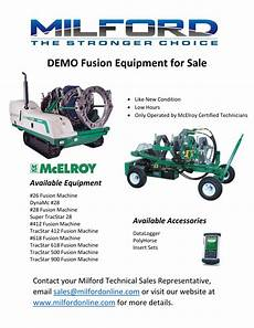 Demo Equipment Milford